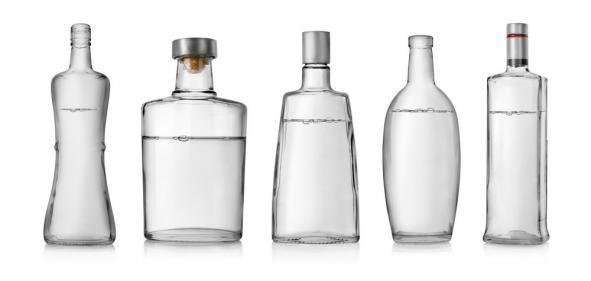 Предметная фотосъемка бутылок для каталога